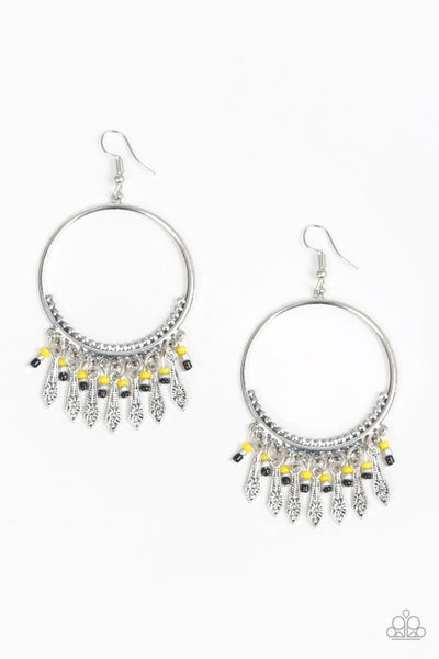 Floral Serenity - Yellow Earring