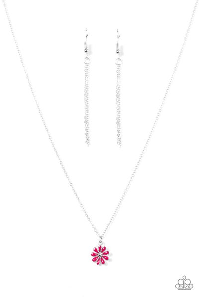 Flower Formal - Pink Necklace