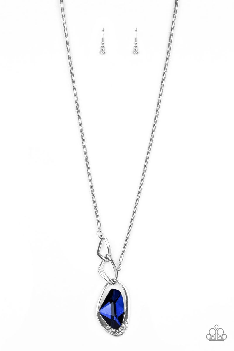 Optical Opulence - Blue Necklace