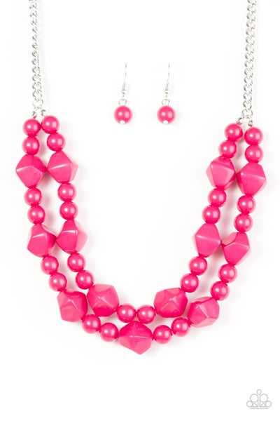 Galapagos Glam - Pink Necklace