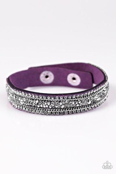 GLAM On Fire - Purple bracelet