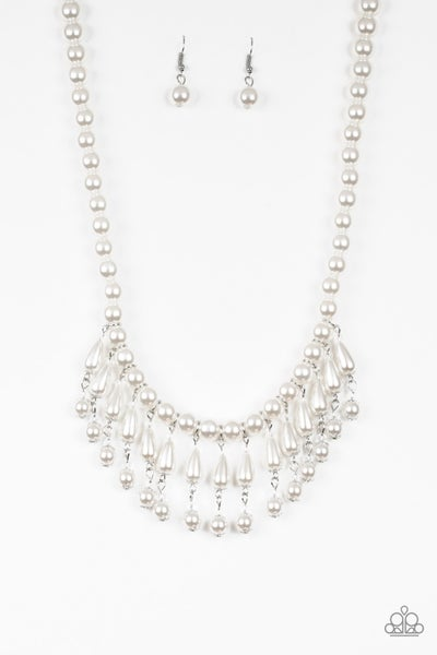Miss Majestic - White Necklace