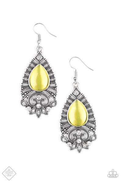 Majestically Malibu - Yellow Earring