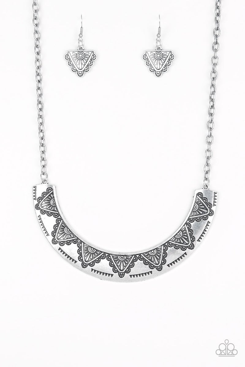 Persian Pharaoh - Silver Necklace