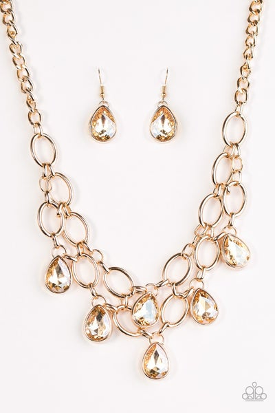 Show-Stopping Shimmer - Gold Necklace