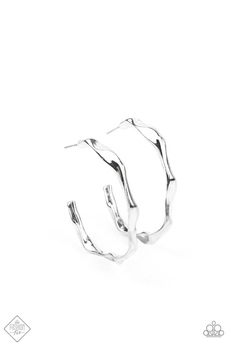 Coveted Curves - Silver Earrings