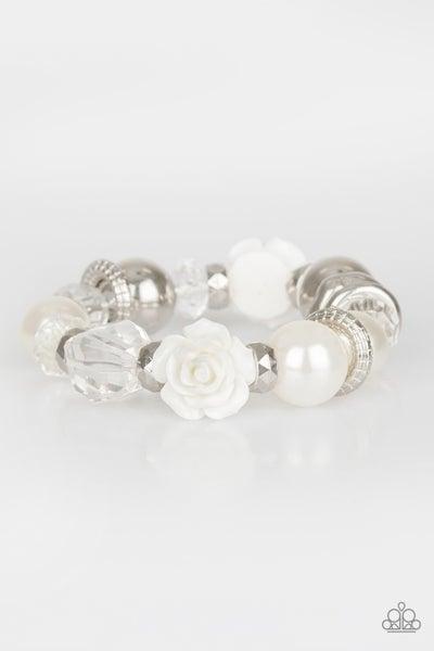 Here I Am - White Bracelet