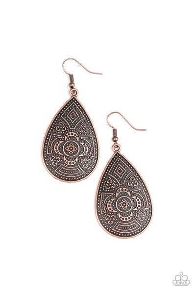 Tribal Takeover - Copper Earring