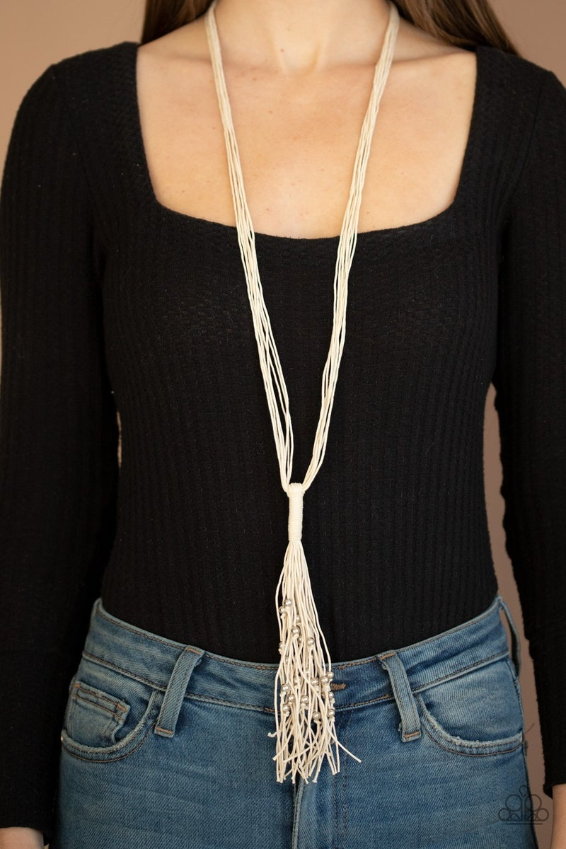 Hand-Knotted Knockout - White Necklace