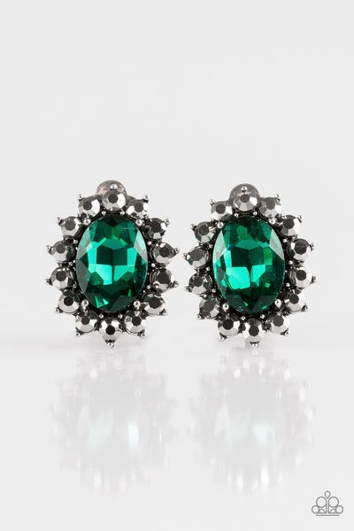 Gala Glamour - Green Clip-On