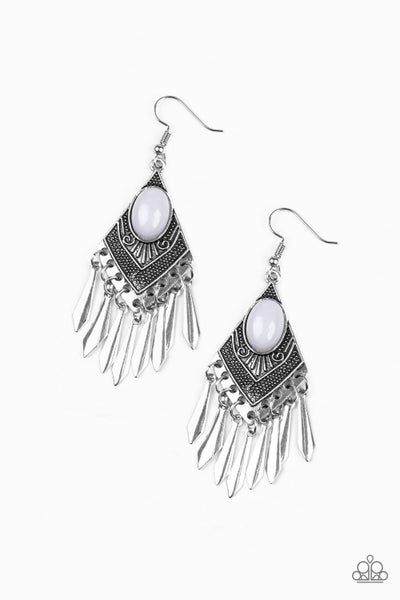 Mostly Monte-ZUMBA - Silver Earring