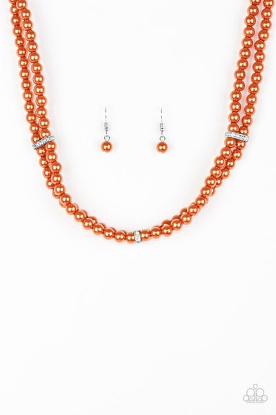 Put On Your Party Dress - Orange Necklace