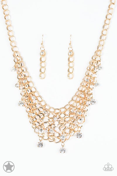 Fishing for Compliments- Gold Necklace