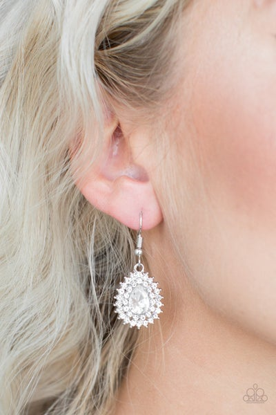 Star-Crossed Starlet - White Earring