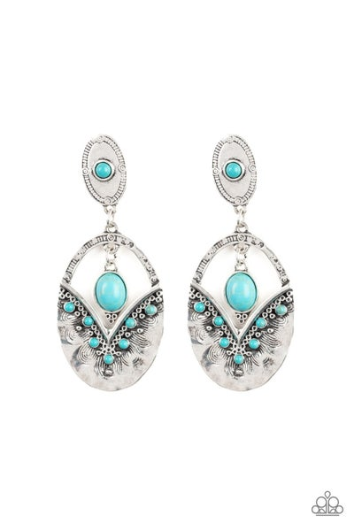 Terra Tribute - Blue Earrings