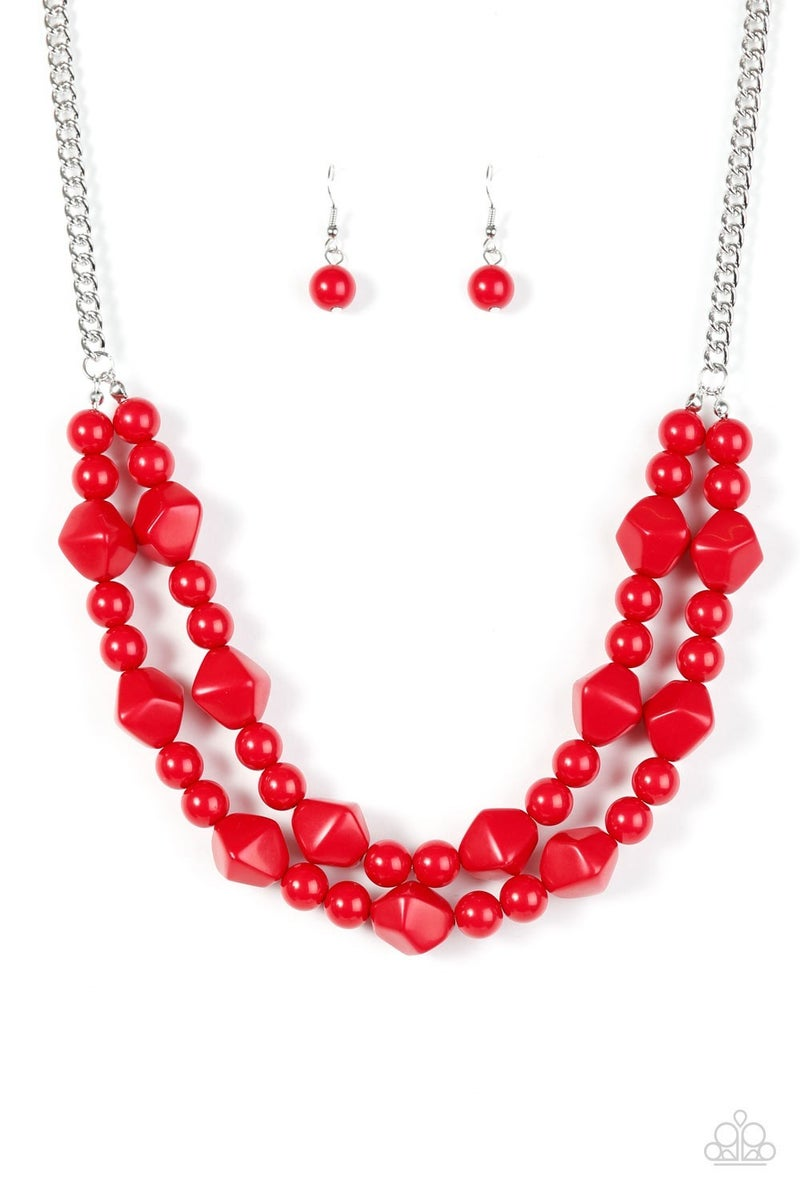 Galapagos Glam - Red Necklace