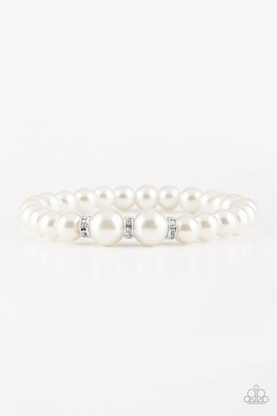 Radiantly Royal - White bracelet