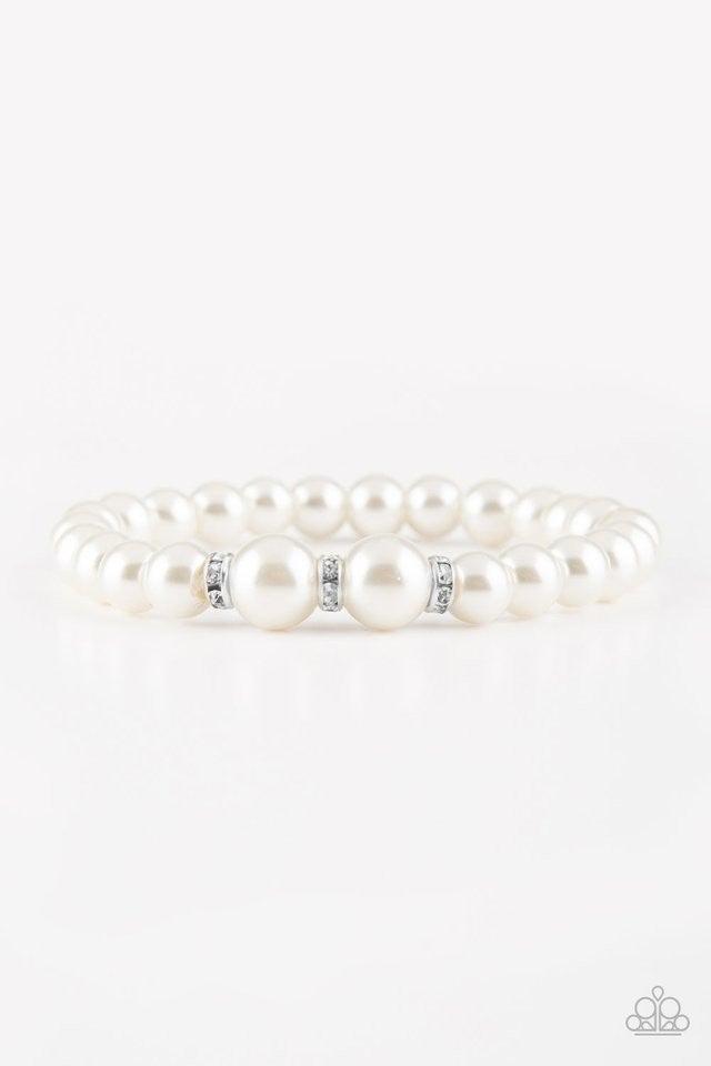Radiantly Royal - White bracelet