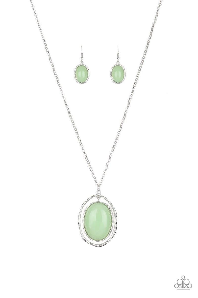 Harbor Harmony - Green Necklace