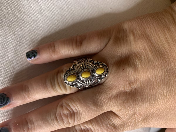 Mayan Motif - yellow ring