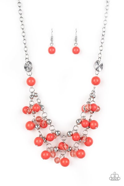 Seaside Soiree - Orange Necklace