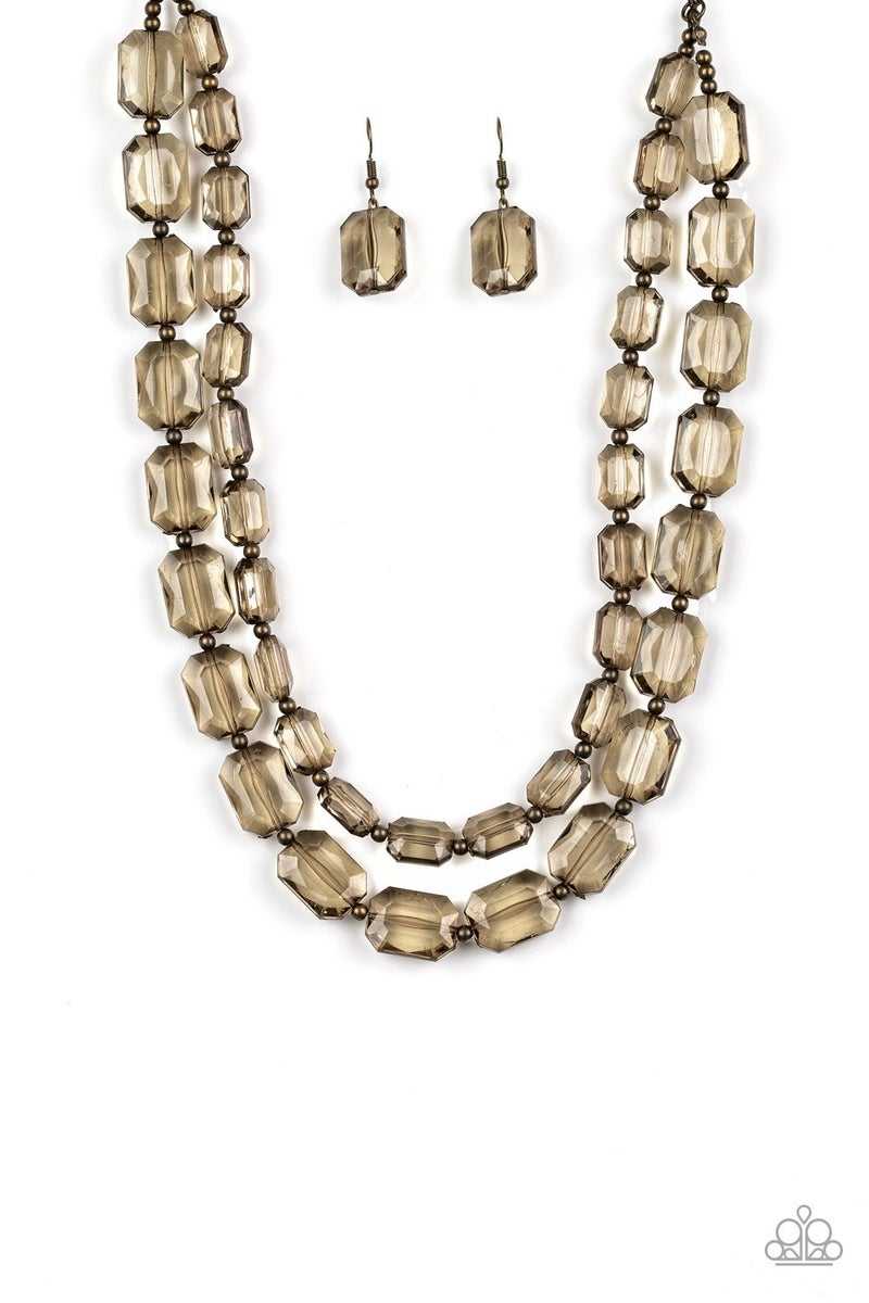 Ice Bank - Brass Necklace