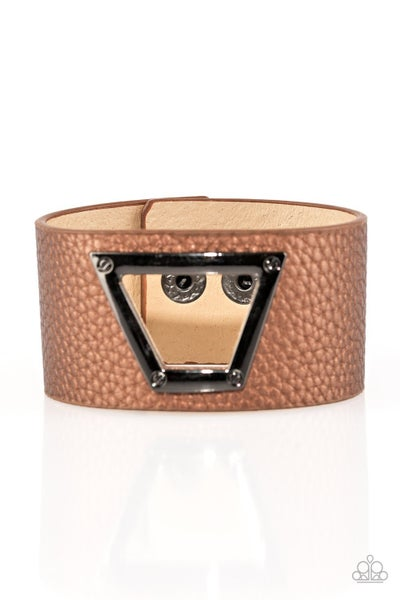 Power Play - Brown Bracelet