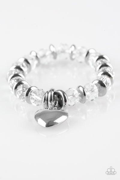 Need I Say AMOUR? - White Bracelet