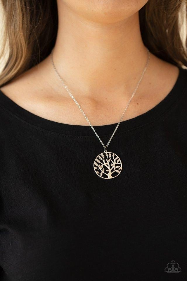 Save The MONEY Trees - Brown Necklace