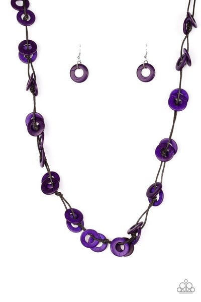 Waikiki Winds - Purple Necklace