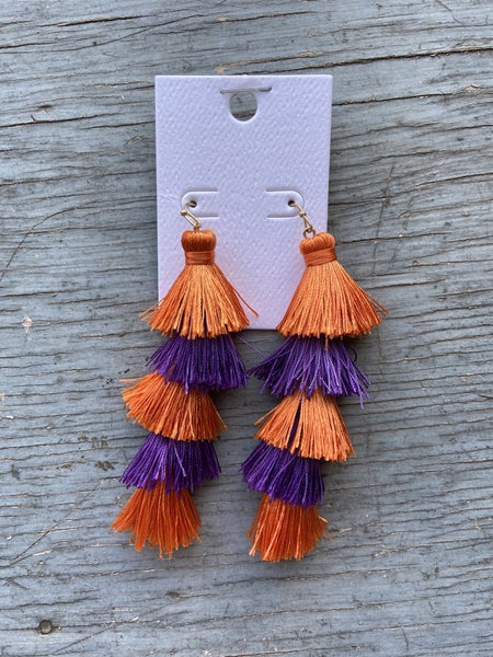 Gameday Tassel Earrings