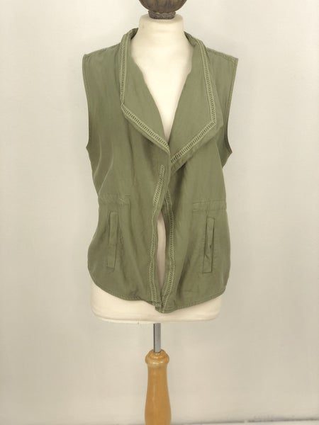 L Mudd Army Green Utility Vest