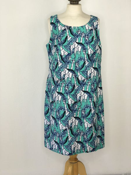 12 Talbot's Green Giraffe Print Dress