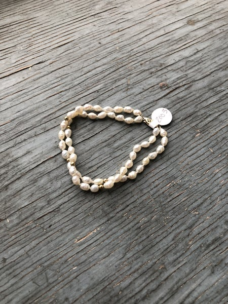 Faux Fresh Water Pearl Bracelet