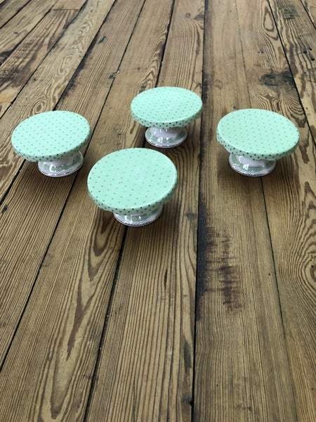 Mint/Gold Cupcake Stands (Set of 4)