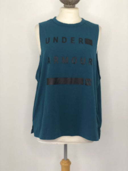 XL Under Armour Teal Logo Tank