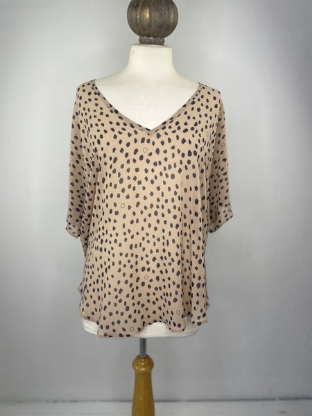 S By Together Sheer Animal Print Blouse