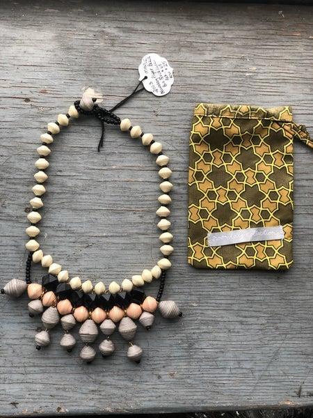 Noonday Paper Bead Bib Necklace Retail:$68