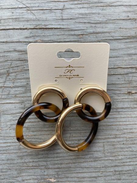 Linked hoop Earring