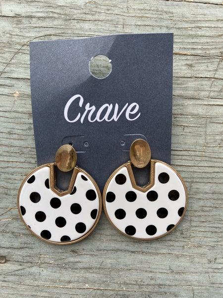 Circle Polk-a-dot Earring