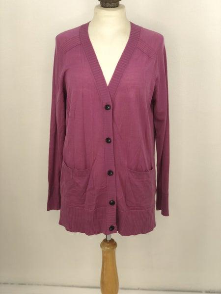 S Pendleton Purple Button Cardigan