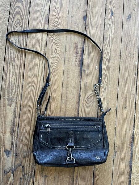 the Sak Ventura Black Leather Crossbody Retail $140 *as is *slight wear