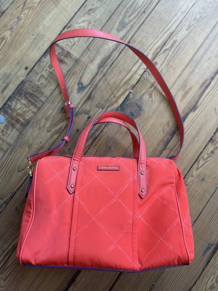 Vera Bradley Preppy Poly Marlow Satchel in Orange NWT Retail $108 *as is *tiny mark