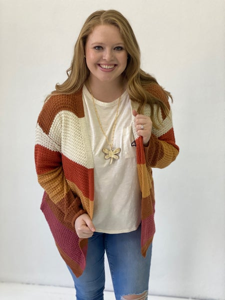 Carrot Cake and Cranberries Cardigan