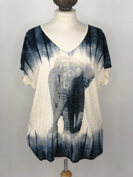 XL New Directions Weekend Ombre Elephant Tee