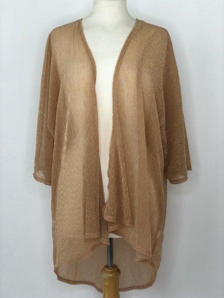 L LulaRoe Gold Shimmer Kimono