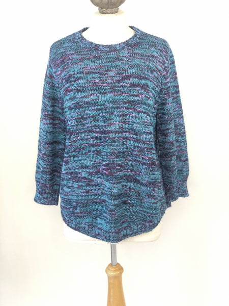 Sz. XL Kim Rogers Multi Colored Sweater