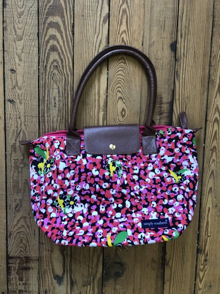 Simply Southern Floral Canvas Tote