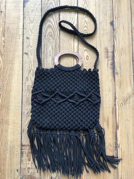 Danielle Nicole Macrame Handbag Ret $100 *As Is* Sign of Wear