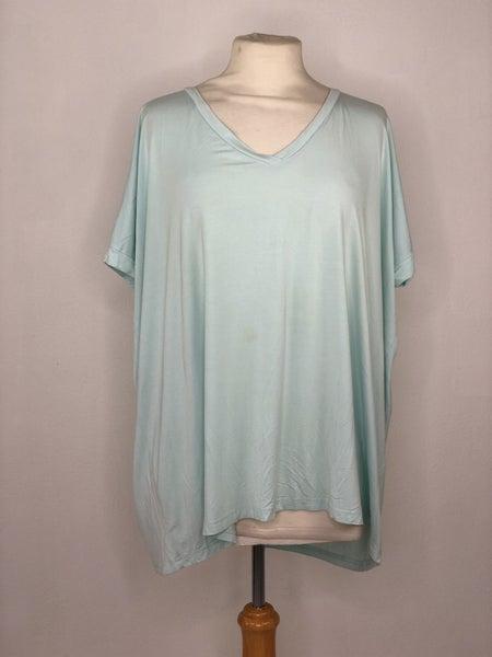 M PIKO Sky Blue V-Neck Short Sleeve
